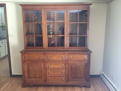 Vintage L J G STICKLEY CHERRY Dining CHINA HUTCH SIDEBOARD O 219900
