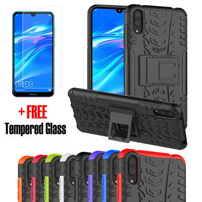 AU4.49 • Buy Heavy Duty Tough Kickstand Shockproof Rugged Case Cover For Huawei Y7 Pro 2019