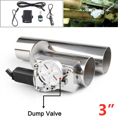 $ CDN157.24 • Buy Car Electric Exhaust Downpipe Cutout Bypass E-Cut Out Dual-Valve Remote 3
