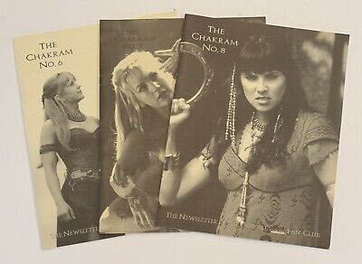 "XENA Warrior Princess ""The Chakram"" Official Fan Club Newsletter - #6, #7, #8 • 11.38£"