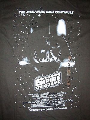 $16.99 • Buy Star Wars The Empire Strikes Back Darth Vader Poster T Shirt Sz S Jedi Movie