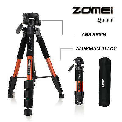 AU33.99 • Buy ZOMEI Light Weight Travel Portable Tripod&Pan Head Stand For Canon DSLR Camera