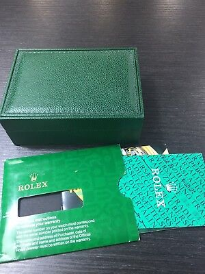 $ CDN114.65 • Buy Vintage ROLEX Swiss Green Watch Box 68.00.55. (NO PILLOW) With Booklets