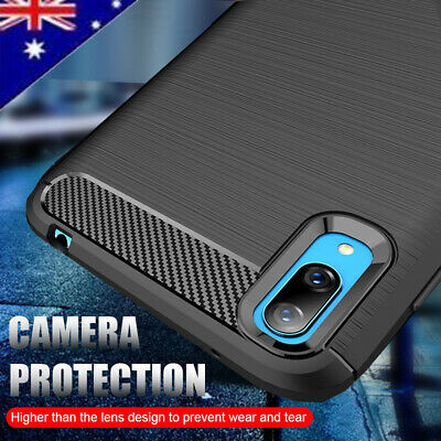 AU9.99 • Buy For Huawei Y7 Pro 2019 Heavy Duty Case Carbon Fiber Hybrid Anti Knock  Cover