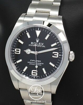 $ CDN9502.54 • Buy Rolex Explorer I 39mm 214270 Steel Oyster Black Dial Watch Papers Mint Condition