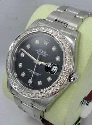 $ CDN13343.44 • Buy Rolex Datejust II 116300 3.25CT Diamond Bezel & Dial Automatic Watch *BRAND NEW*