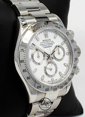 $ CDN27775.95 • Buy Rolex Daytona 116520 Cosmograph Steel Oyster White Dial Watch *MINT CONDITION*