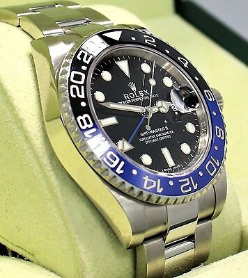 $ CDN20963.62 • Buy Rolex GMT-MASTER II 116710 BLNR BATMAN Black/Blue Ceramic Bezel BOX/PAPER *MINT*