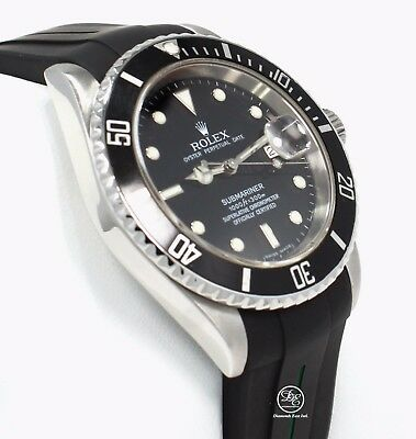 $ CDN10589.88 • Buy Rolex Submariner 16610 Date Stainless Steel RUBBER B Band Watch 2007 PAPERS MINT