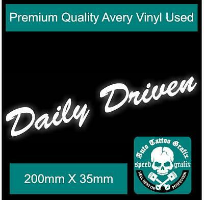 AU3.50 • Buy Daily Driven Decal Sticker Jdm Drift Illest Vehicle Rally Motorsport Stickers