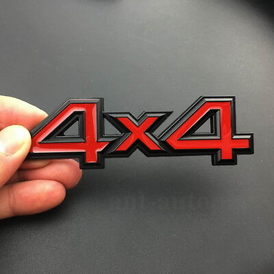 $7.90 • Buy Chrome Metal Red 4WD 4x4 Car Rear Trunk Tailgate Emblem Badge Decals Sticker