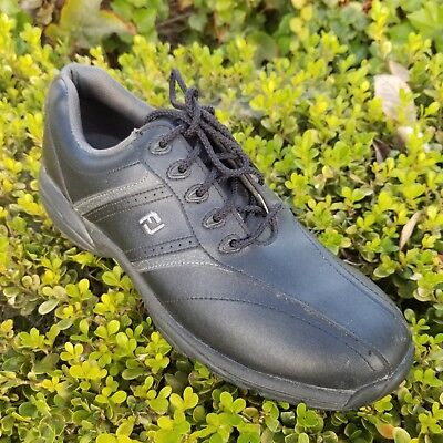 1589712a7 Footjoy GreenJoy Men s Golf Shoes Size 9M Black Leather  45471 • 32.88