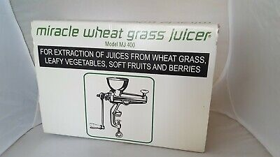 $59 • Buy Miracle Wheat Grass Juicer MJ 400
