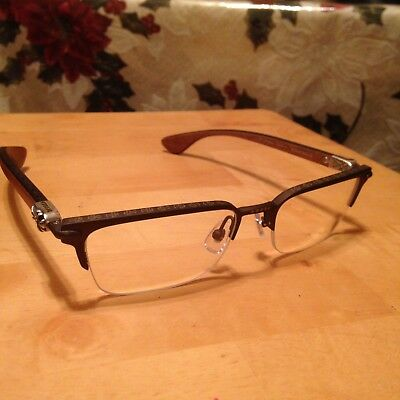 cccce3985ff Chrome Hearts Sugar Walls Glasses Spectacle Sterling Silver Optical Jewelry  Wood • 1