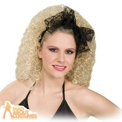 £2.79 • Buy Black Lace Bow Hair Scarf Tie 1980s Ladies Adults Fancy Dress Costume Accessory