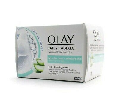 AU25.30 • Buy Olay Daily Facials 5-in-1 Dry Cloths - Sensitive Skin