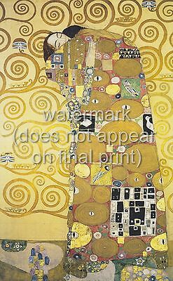 $ CDN23.32 • Buy GUSTAV KLIMT Painting Poster Or Canvas Print  Stoclet Frieze - The Embrace