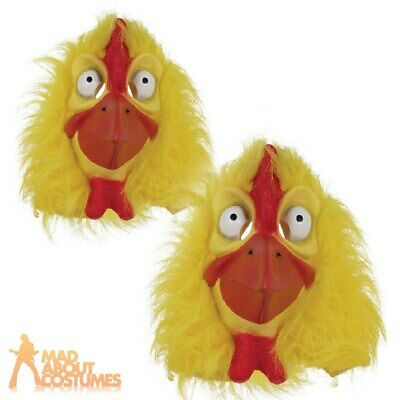 Adults Full Head Chicken Mask Easter Animal Adults Fancy Dress Costume Accessory • 9.99£