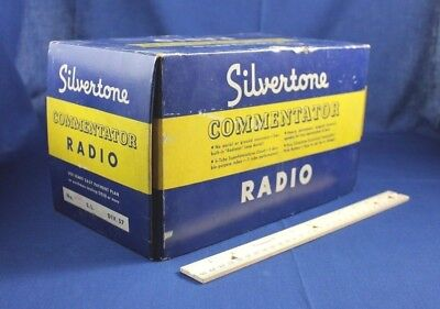$ CDN126.81 • Buy Vintage Radio Box Top Sears Silvertone Commentator Tube 1939 Marble Candy Onyx