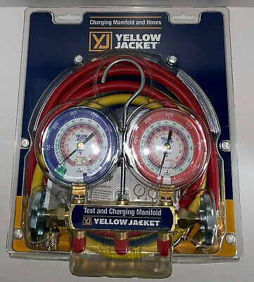 $109.99 • Buy Yellow Jacket 42004 Refrigeration Manifold With 60  Hoses, R-22 / 404a / 410a