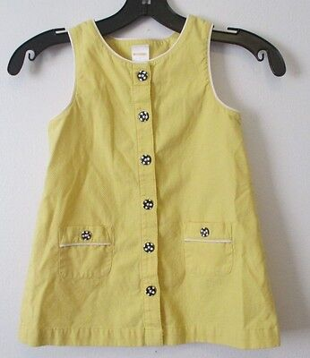 $5.77 • Buy Girls Gymboree 7 Yellow Black Bumble Bee Chic Sleeveless Top Button Up A-Line