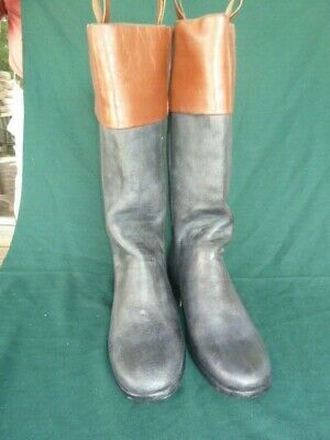 18th Century Cuff Top Boots Size 9 • 145£