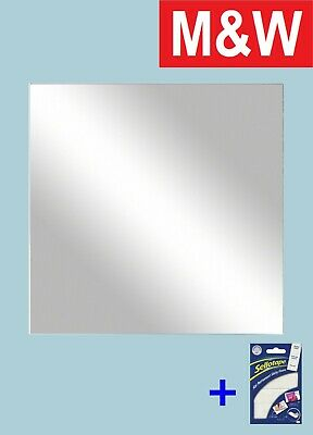 New Square Plastic Mirror Wall Tiles Anti-shatter Safety Mirror Perspex Sheet • 4.99£