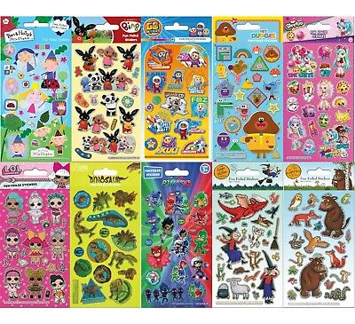 Fun Foiled Re-usable Childrens Character Stickers Party Loot Bag Fillers Craft • 1.99£
