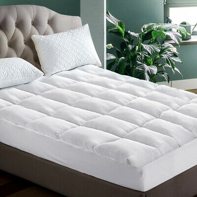 AU63.95 • Buy Pillowtop Matress Mattress Topper Memory Protector Pad Cover Underlay Double Bed