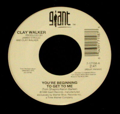 £1.44 • Buy CLAY WALKER  YOU'RE BEGINNING TO GET TO ME/Your Memory  GIANT 17158 (1998) 45rpm