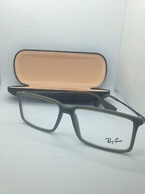 a6379df8a3c8a NEW AUTHENTIC RAY-BAN RB 7043 5466 MATTE GREEN MEN EYEGLASSES Frame 54-14
