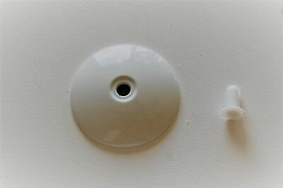 $18.50 • Buy Hunter Ceiling Fan New Parts - Lower Housing Inset End Cap In White With Plug!!!