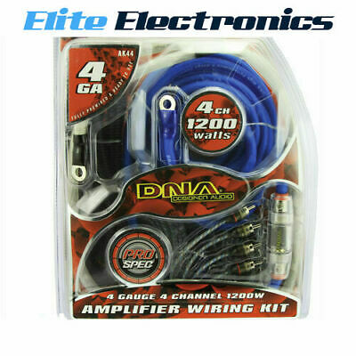 AU62 • Buy Dna Ak44 4-awg Gauge 4 Channel 1200w Amplifier Wiring Installation Kit Amp Car