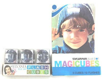 $7.99 • Buy Vintage Sylvania Blue Dot Magicubes Flashbulbs Lot Of 2 Boxes/6 Cubes/24 Flashes
