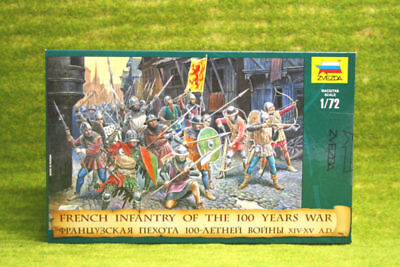 FRENCH INFANTRY OF THE 100 YEARS WAR 1/72 Zvezda 8053 • 10.50£
