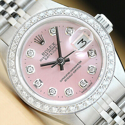 $ CDN4643.33 • Buy Ladies Rolex Datejust Pink Diamond Dial 18k White Gold & Stainless Steel Watch