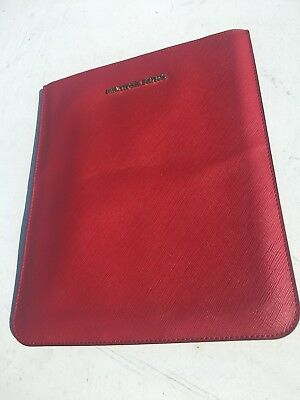 £14.16 • Buy Michael Kors Genuine Leather Sleeve/Case For IPad RED Ships Fast