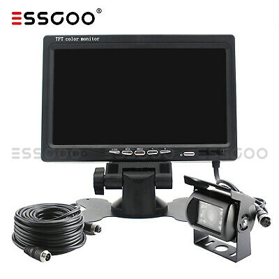 Car Reversing Camera + 7  LCD Monitor Truck Bus Van Rear View Kit 12V/24V 10M • 37.96£