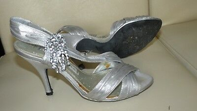 £4.99 • Buy Next 'sole Reviver' Silver High Heel Sandals Size Uk 4