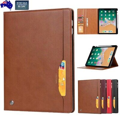 AU37.94 • Buy For IPad Pro 12.9 11 Inch 2018 Leather Smart Folio Case Cards Pen Holder Cover