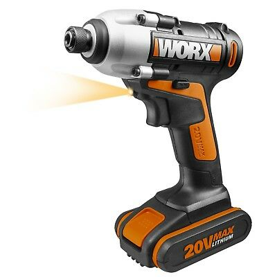 View Details WORX WX290.2 18V (20V MAX) Cordless Impact Driver With X1 2.0Ah Battery • 59.99£