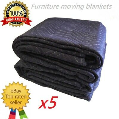 AU96.99 • Buy 5XHeavy Duty Furniture Protection Moving Blanket Quilted Removalist Pad 1.8X3.4m
