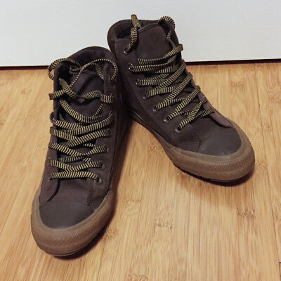 3e21a34a211401 Converse All Star Brown Leather High Tops - Women s 7.5   Men s 5.5 • 14.99