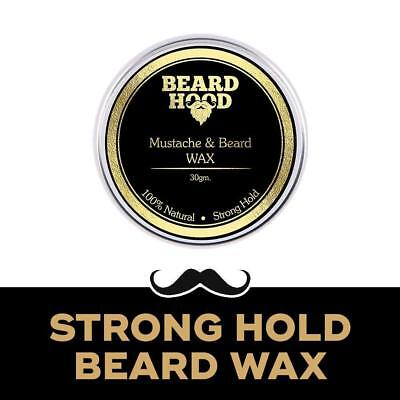 Best Beardhood Natural Mustache And Beard Wax For Strong Hold 30gm • 10.50£
