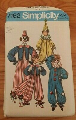 $ CDN10.88 • Buy Vintage Simplicity Halloween Clown Costume Pattern 7162 Size M Free Shipping