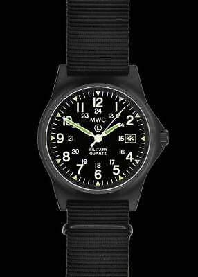 $107.85 • Buy MWC G10LM 12/24 Cover Non Reflective Black PVD Military Watch G10LM1224PVD