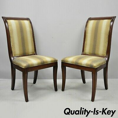 $1600 • Buy E.J. Victor Saber Leg Regency Style Mahogany Dining Room Side Chairs A Pair