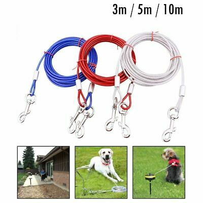 Pet Dog Spiral Tether Thick Steel Holding Cable Lead Metal Stake Corkscrew Safe • 5.99£