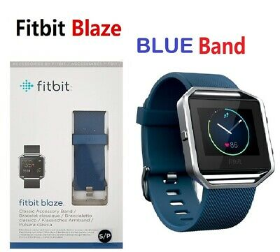 AU108.53 • Buy Fitbit Blaze FB502 Smart Fitness Watch Smartwatch Activity Tracker Blue Small #2