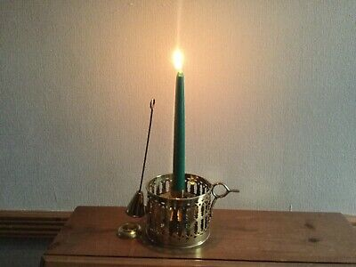 £35 • Buy Solid Brass Candle Holder With Candle Snuffer